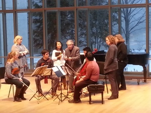Cavani Quartet & Peter Salaff Team Coaching at Cleveland Institute of Music